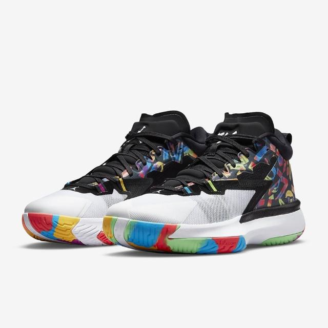 【NIKE 耐吉】Zion 1 PF 籃球鞋 明星款 Jordan 氣墊 穩定 緩震 黑白 多色(DA3129-001)