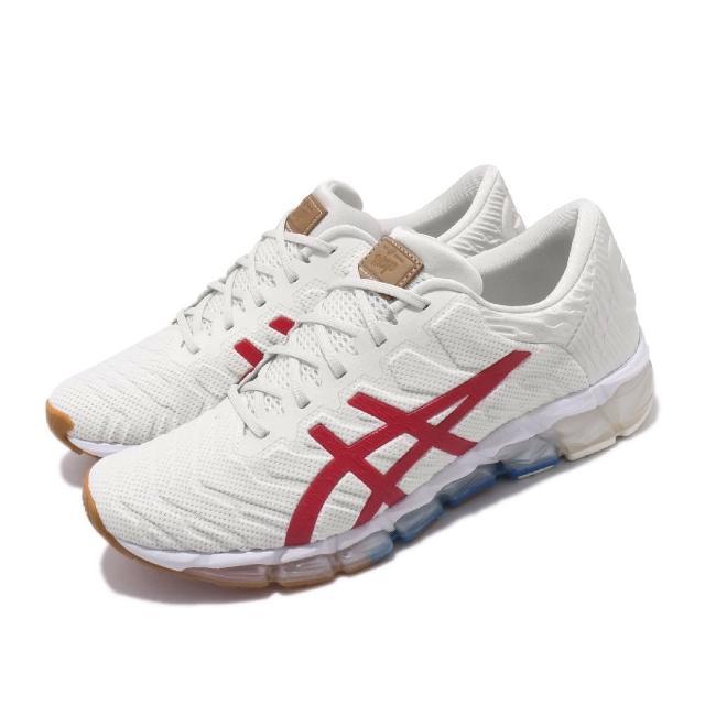 【asics 亞瑟士】慢跑鞋 Gel-Quantum 360 5 男鞋 亞瑟士 東京 奧運 高緩衝 亞瑟膠 米 紅(1021A291100)