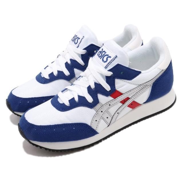 【asics 亞瑟士】休閒鞋 Tarther OG 運動 女鞋 亞瑟士 慢跑 復古 簡約 穿搭 舒適 白 藍(1192A146101)