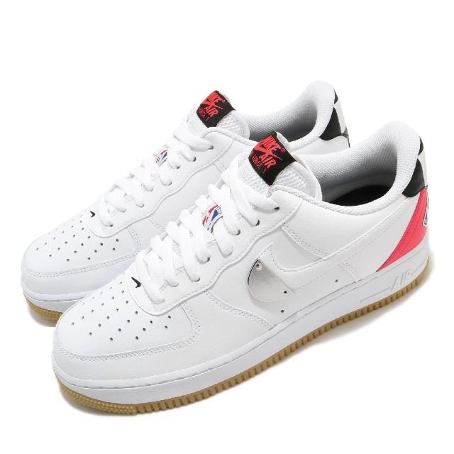 【NIKE 耐吉】休閒鞋 Air Force 1 07 運動 男鞋 經典 AF1 皮革 簡約 情侶款 NBA 白 黑(CT2298-101)
