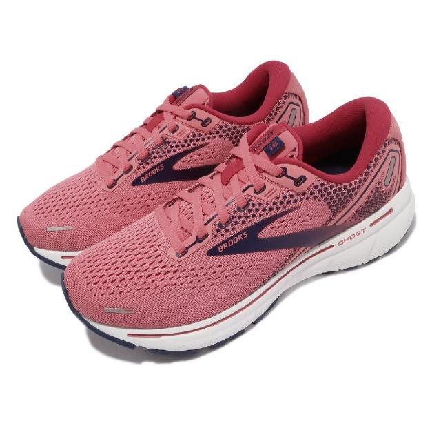 【BROOKS】慢跑鞋 Ghost 14 運動休閒 女鞋 避震 柔軟 穩定 3D彈力列印科技 粉 白(1203561B699)