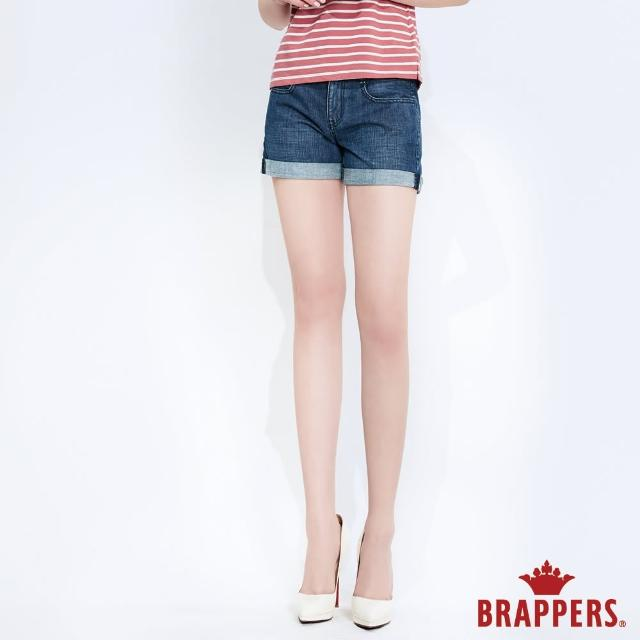 【BRAPPERS】女款 Boy Friend系列-全棉反摺短褲(深藍)
