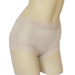 【賽凡絲】純蠶絲蕾絲平口蠶絲褲(銀灰色)