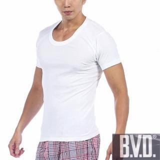 【BVD】時尚型男U領純棉短袖內衣(6件組)/