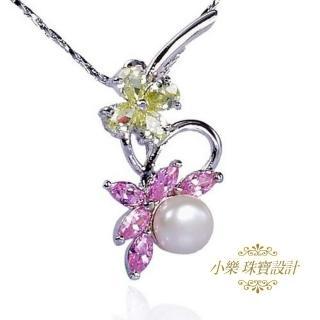 (小樂珠寶)頂級天然珍珠胸針墬子二用款★柔情滿溢款