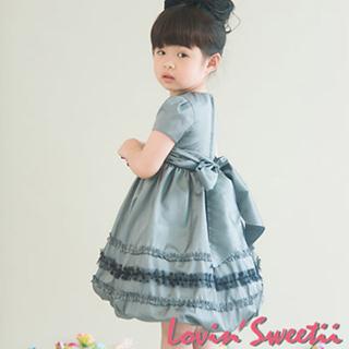(Lovin Sweetii)典藏小公主童洋裝~銀灰限量款