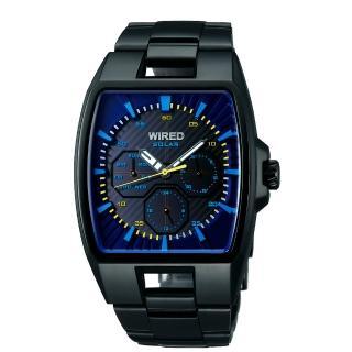 WIRED HYBRID SOLAR潮流腕錶-藍/IP黑(V14J-X004K)