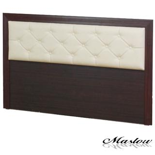 【Maslow】簡約胡桃菱紋 單人床頭片(3.5尺)