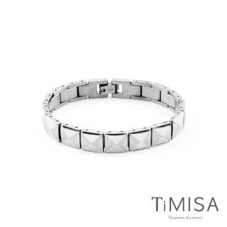 【TiMISA】菱格鉚釘 霧亮版 純鈦手鍊