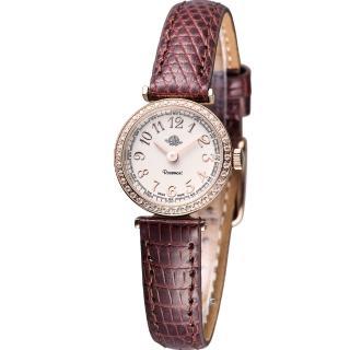 【玫瑰錶 Rosemont】茶香玫瑰系列超薄時尚錶(TRS010-05RG-LE-BR)