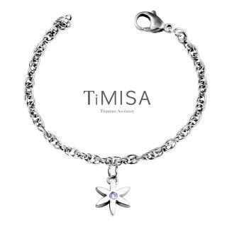 【TiMISA】花漾星語-晶鑽 純鈦手鍊(4色可選)