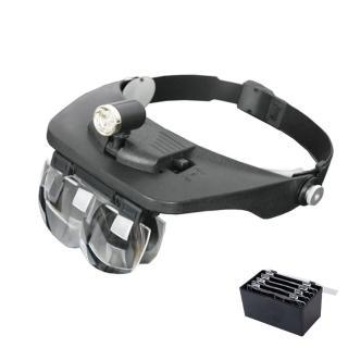 3LED 4鏡片 頭戴式放大鏡 外銷版