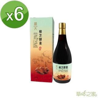【草本之家】御天牛樟芝桑黃蔬果酵素液(750mlX6瓶)