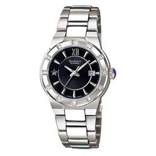 【CASIO】HEEN系列 耀眼典藏都會時尚腕錶(黑 SHE-4500D-1ADR)