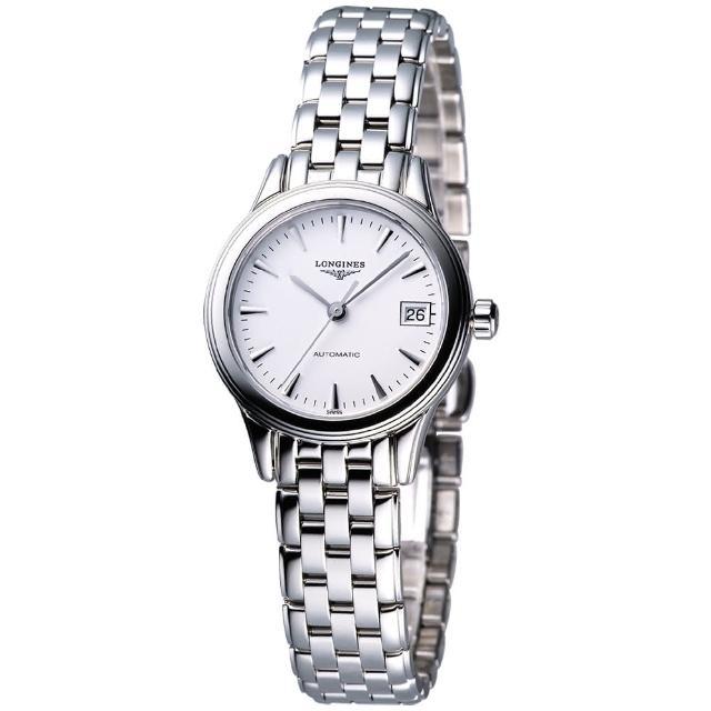 【LONGINES】旗艦系列典藏機械女錶-銀(L42744126)