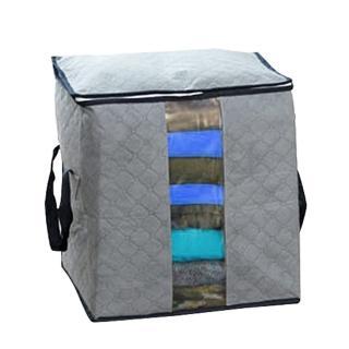 【iSFun】竹炭纖維*衣物棉被收納袋/灰(快速到貨)