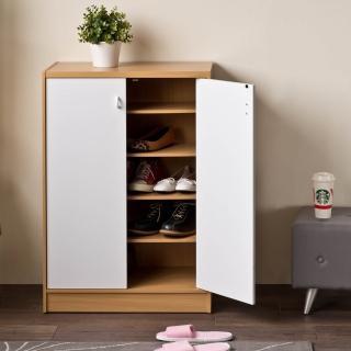 【TZUMii】雙門雙色鞋櫃/鞋架