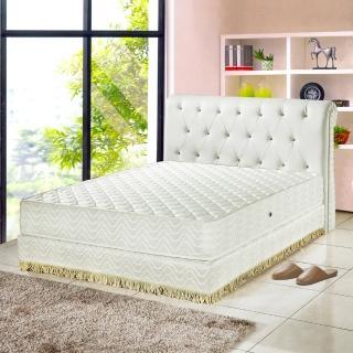 【睡芝寶-飯店用-透氣3M防潑水蜂巢式獨立筒床墊-雙人】