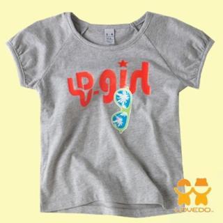 【艾唯多童裝】快速到貨-閃耀女孩短袖T恤(灰3-11)