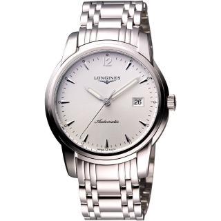 【LONGINES】Saint-Imier 經典復刻腕錶-銀(L27664726)