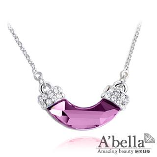 【A'bella浪漫晶飾】朦月影-淺粉色水晶項鍊