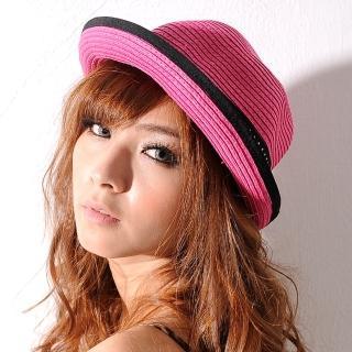 【Lady c.c.】兩用小帽沿水玉緞帶遮陽帽(桃)