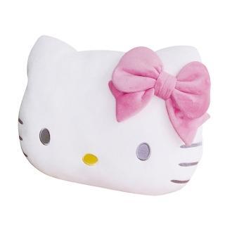【享夢城堡】造型頭型抱枕(HELLO KITTY-白)