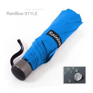 【RainSky】精工12角切割_潑水性晴雨傘/輕量-防風抗折設計折疊傘(晴空藍)