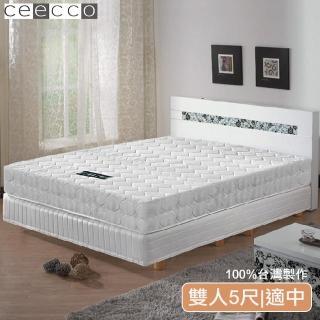 【ceecco】米雪兒高彈力高碳鋼護背彈簧床墊(雙人5尺)/