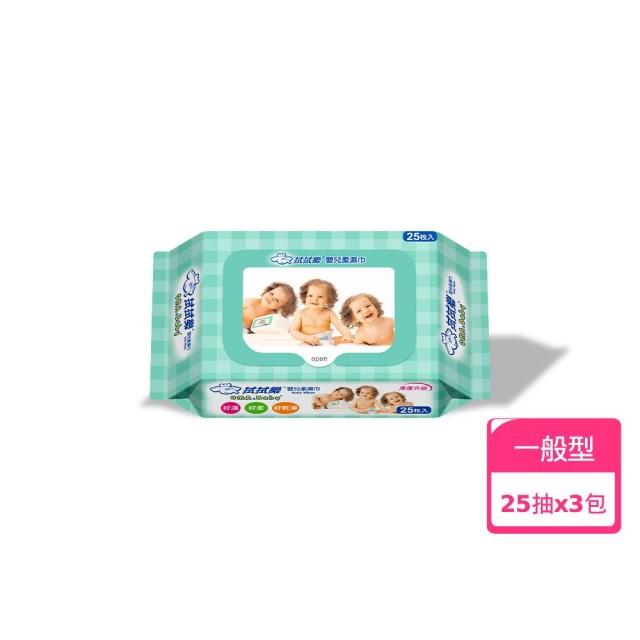 【拭拭樂】專利蓋便利包濕巾(25抽*3包入)/