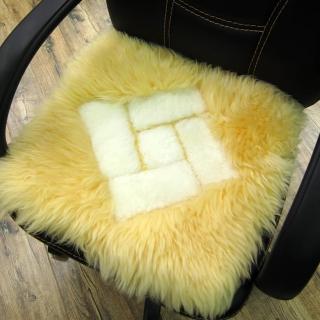 【范登伯格】羊毛超柔長毛止滑坐墊-奇菱格(40x40cm)