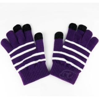 【Lus.G】暖呼呼觸控螢幕保暖手套(紫色)
