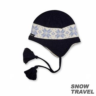 【SNOW TRAVEL】 3M防風透氣保暖羊毛遮耳帽(藍色)