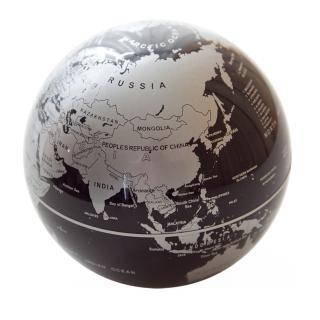 【Mr.sci 賽先生科學】自轉地球儀(銀黑)