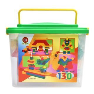 【OK積木】OK我高積木/OK327 大顆粒積木/130片裝(附收納桶)