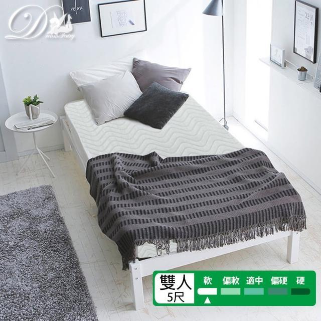 【睡夢精靈】花語系-勿忘我飯店級柔軟型獨立筒床墊(雙人5尺)/