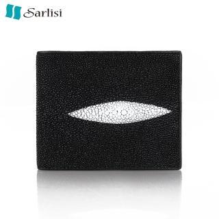【Sarlisi】【歷史最低 買到賺到】經典百搭珍珠魚真皮短夾