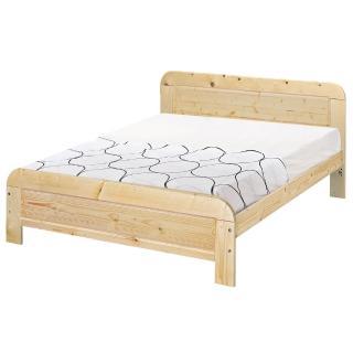 【顛覆設計】奧汀白松木5尺雙人床架(不含床墊)/