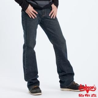 ~BOBSON~男款立體褶痕小喇叭褲 藍52