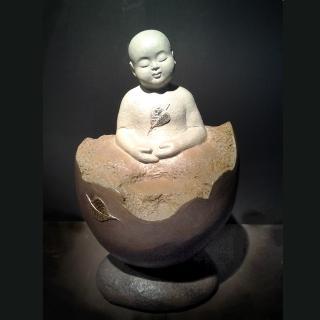 【開運陶源】無舍老師 限量原作銅雕(誕生菩提-善財童子)