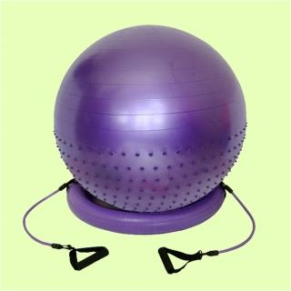 【Sport-gym】70cm半棵顆粒半平面韻律生產球組-含底座圈圈 彈力繩