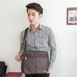 【ROROCK JEANS】時尚格紋條經典肩斜背包(三色可選)