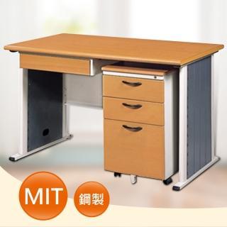 【時尚屋】SYS120木紋辦公桌櫃組(含中抽.活動櫃)