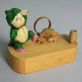 【MU LIFE荒木藝品雕刻】恐龍豬memo架、名片架