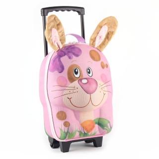 【德國 okiedog】兒童3D動物造型系列-拉桿式行李箱(兔子)
