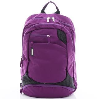 【eeBag】時尚休閒輕巧電腦後背包(紫)