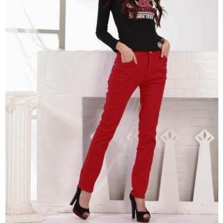 【RH】中腰原色紅3D剪裁牛仔褲(過年最後一檔年前大促銷.售完為止)