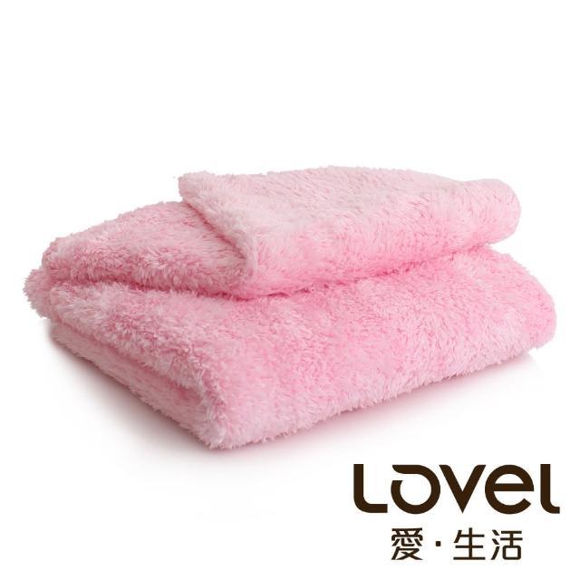 【Lovel】超強吸水輕柔微絲多層次開纖紗毛巾/方巾2件組(共9色)/