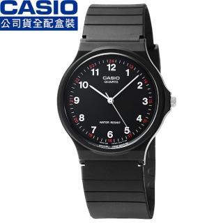 【CASIO】日系卡西歐薄型石英錶-黑(MQ-24-1B 原廠公司貨全配盒裝)
