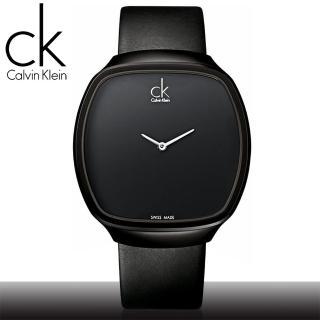【瑞士 CK手錶 Calvin Klein】IP鍍黑酒桶造型_中性錶(K0W23702)